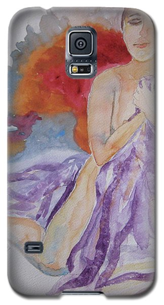 Galaxy S5 Case featuring the painting Let It Burn by Beverley Harper Tinsley