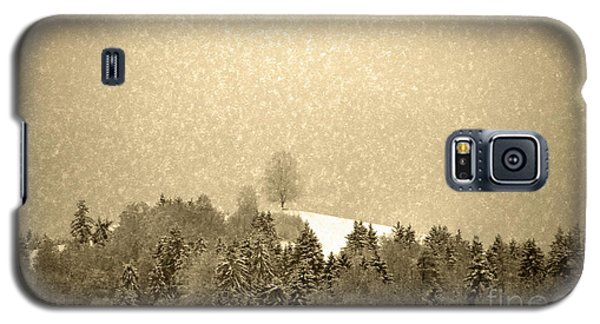 Galaxy S5 Case featuring the photograph Let It Snow - Winter In Switzerland by Susanne Van Hulst