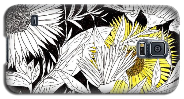 Galaxy S5 Case featuring the drawing Let Your Light Shine by Lou Belcher
