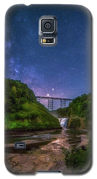 Galaxy S5 Case featuring the photograph Letchworth At Night by Mark Papke