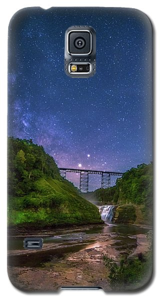 Letchworth At Night Galaxy S5 Case by Mark Papke