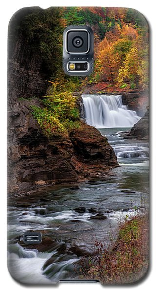 Letchworth State Park Lower Falls Galaxy S5 Case by Mark Papke