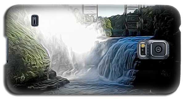 Letchworth State Park Upper Falls And Railroad Trestle Abstract Galaxy S5 Case
