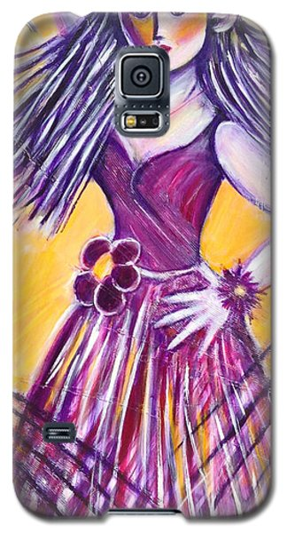 Galaxy S5 Case featuring the painting Let's Dance by Anya Heller