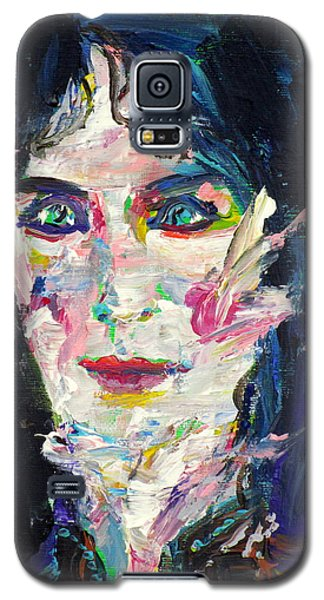 Galaxy S5 Case featuring the painting Let's Feel Alive by Fabrizio Cassetta