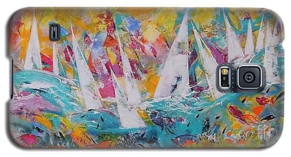 Lets Go Sailing Galaxy S5 Case by Lyn Olsen