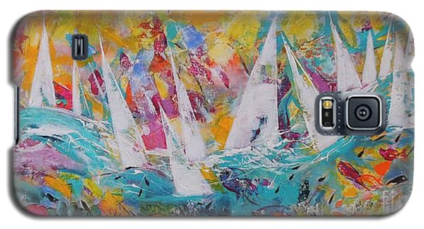 Galaxy S5 Case featuring the painting Lets Go Sailing by Lyn Olsen