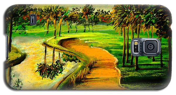 Let's Play Golf Galaxy S5 Case by Patricia L Davidson