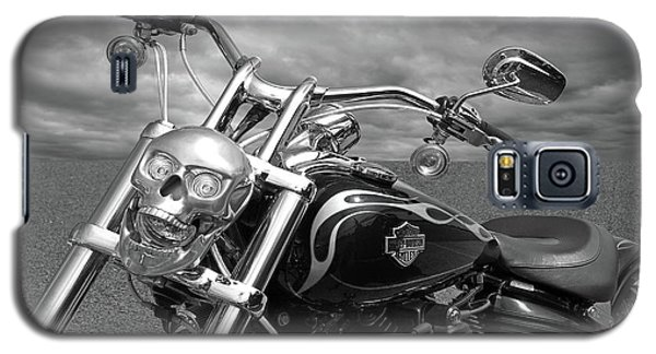 Galaxy S5 Case featuring the photograph Let's Ride - Harley Davidson Motorcycle by Gill Billington