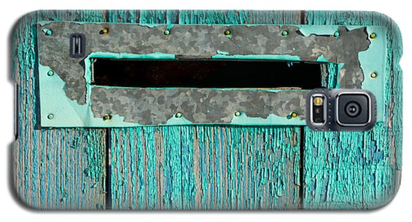 Letter Box On Blue Wood Galaxy S5 Case