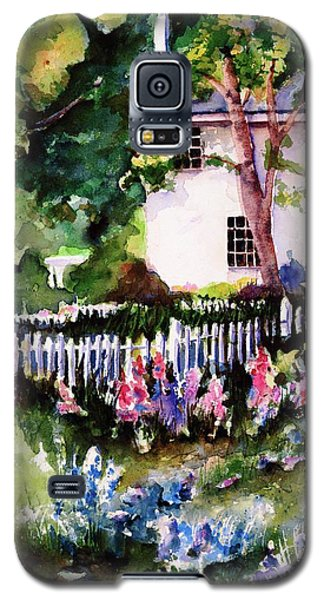Galaxy S5 Case featuring the painting Letterfrack Ireland by Marti Green
