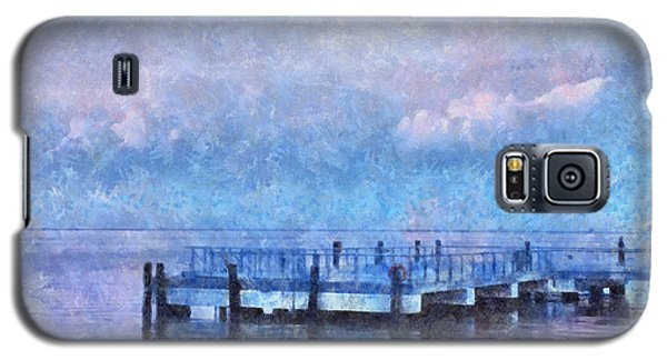 Galaxy S5 Case featuring the mixed media Lewes Pier by Trish Tritz