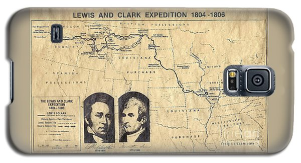 Lewis And Clark Expedition Map Galaxy S5 Case