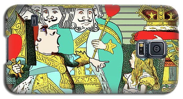 Lewis Carrolls Alice, Red Queen And Cards Galaxy S5 Case by Marian Cates