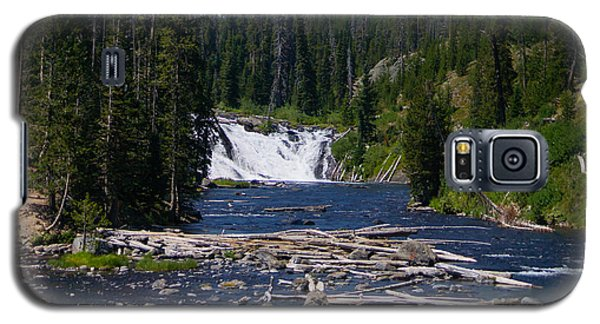 Lewis Falls Yellowstone Galaxy S5 Case by Jennifer White