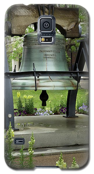 Galaxy S5 Case featuring the photograph Liberty Bell Replica by Mike Eingle