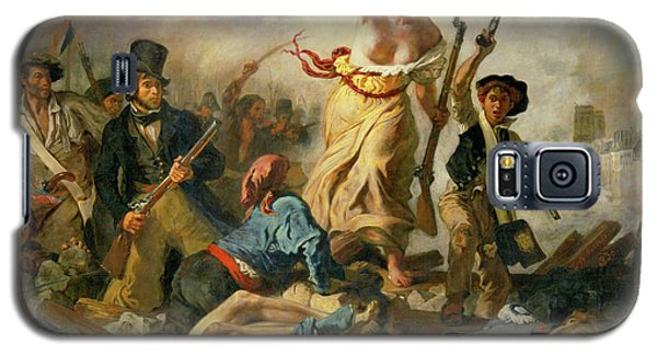 Galaxy S5 Case featuring the painting Liberty Leading The People By Eugene Delacroix 1830 by Movie Poster Prints
