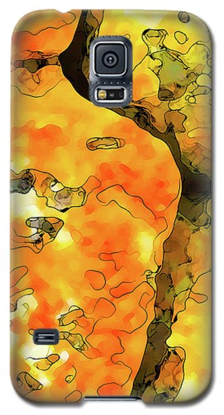 Galaxy S5 Case featuring the digital art Lichen Abstract 1 by ABeautifulSky Photography