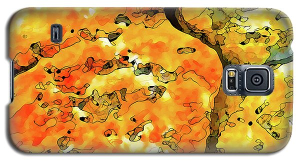 Galaxy S5 Case featuring the digital art Lichen Abstract 2 by ABeautifulSky Photography