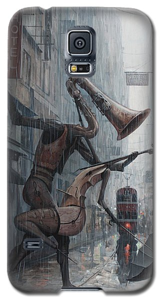 Life Is  Dance In The Rain Galaxy S5 Case by Adrian Borda