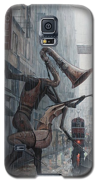Violin Galaxy S5 Case - Life Is  Dance In The Rain by Adrian Borda