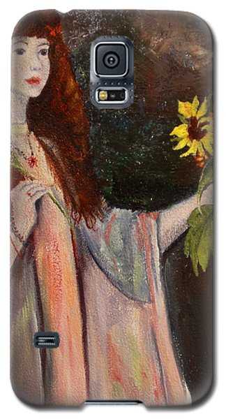 Life Is Fragile Handle With Flowers Galaxy S5 Case by Jane Autry