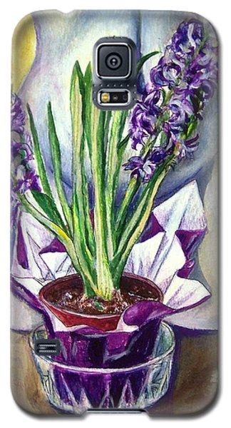 Galaxy S5 Case featuring the drawing Life Spring by Laura Aceto