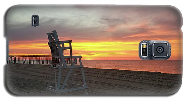 Lifeguard Stand On The Beach At Sunrise Galaxy S5 Case