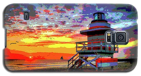 Lifeguard Tower At Miami South Beach, Florida Galaxy S5 Case