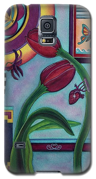 Galaxy S5 Case featuring the painting Lifting And Loving Each Other by Lori Miller