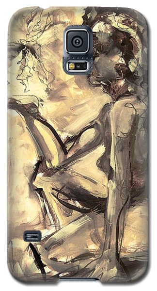 Galaxy S5 Case featuring the painting Light And Shadow by Mary Schiros