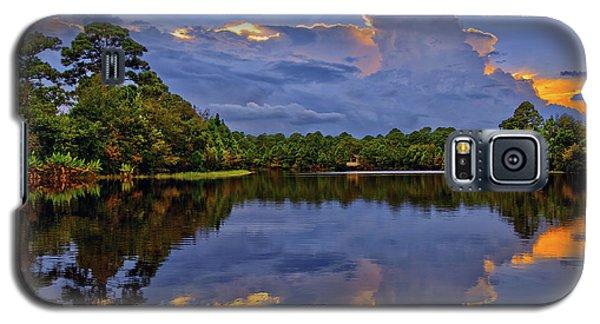 Light Beam Sunset Over Hidden Lake In Jupiter Florida Galaxy S5 Case