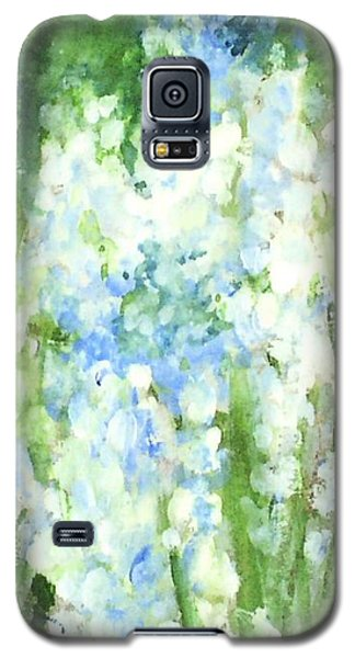 Galaxy S5 Case featuring the painting Light Blue Grape Hyacinth. by Laurie Rohner