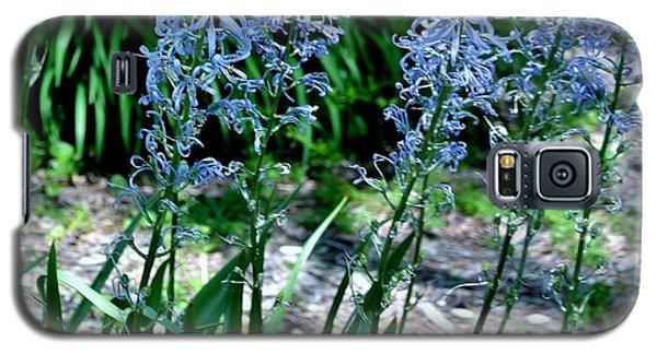 Light Blue Lace Galaxy S5 Case by Marsha Heiken