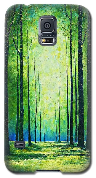 Light From Green Galaxy S5 Case
