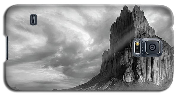 Galaxy S5 Case featuring the photograph Light On Shiprock by Jon Glaser