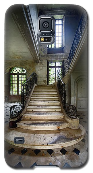 Galaxy S5 Case featuring the photograph Light On The Stairs - Abandoned Castle by Dirk Ercken