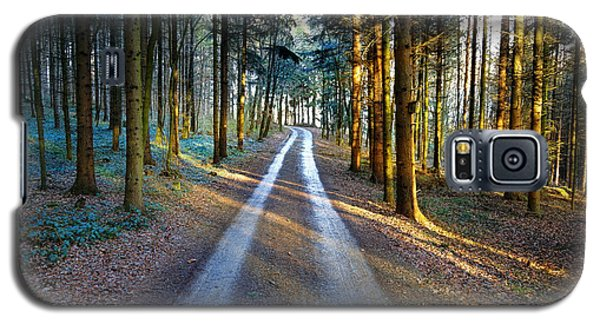 Light Path Crossing In The Woods Galaxy S5 Case