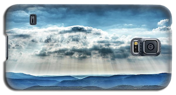 Galaxy S5 Case featuring the photograph Light Rains Down by Thomas R Fletcher