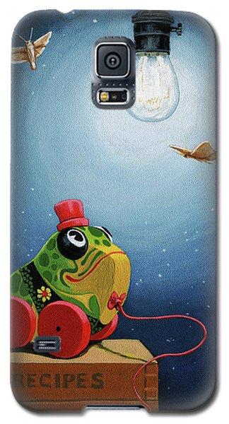 Light Snacks Original Whimsical Still Life Galaxy S5 Case by Linda Apple