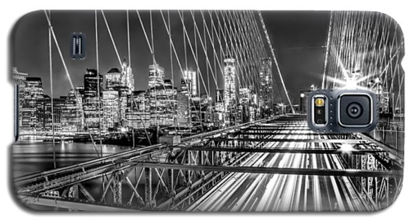 Light Trails Of Manhattan Galaxy S5 Case by Az Jackson