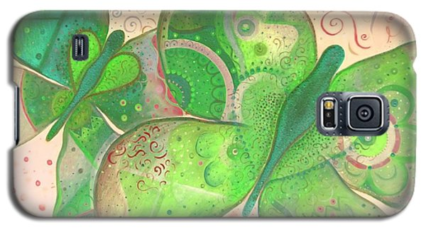 Lighthearted In Green On Red Galaxy S5 Case