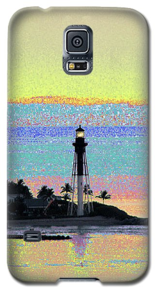 Galaxy S5 Case featuring the photograph Luminous Florida Yellow At Hillsboro Lighthouse by Corinne Carroll