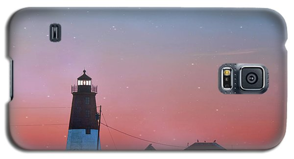 Galaxy S5 Case featuring the photograph  Lighthouse At Sunrise by Juli Scalzi