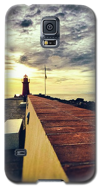 Galaxy S5 Case featuring the photograph Lighthouse At Sunset by Silvia Ganora