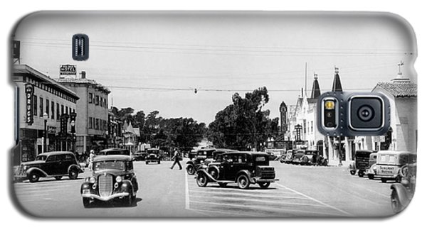 Lighthouse Avenue Downtown Pacific Grove, Calif. 1935  Galaxy S5 Case