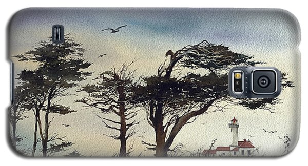 Galaxy S5 Case featuring the painting Lighthouse Coast by James Williamson