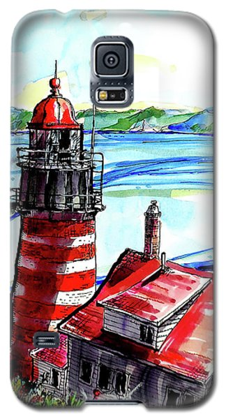 Lighthouse In Maine Galaxy S5 Case by Terry Banderas