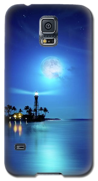 Lighthouse Moon Galaxy S5 Case by Mark Andrew Thomas