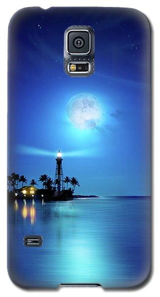 Lighthouse Moon Galaxy S5 Case